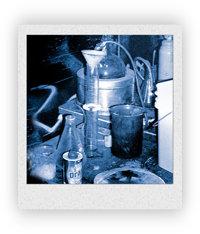 Un laboratorio de metanfetamina de cristal.