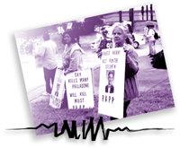 Familiemedlemmer protesterer mot dødelige smertestillende midler. Avvenningseksperter sier at avhengigheten av sterke smertestillende midler så som OxyContin, er blant dem som er vanskeligst å kvitte seg med.Foto: OxyABUSEKills.com