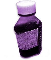 Пузырёк с таблетками кодеина: все опиаты вызывают временное облегчение боли, но вызывают сильную зависимость.