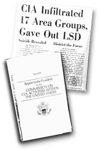 """Psychiatrische programma's om mensen geestelijk onder controle te houden, waarbij men zich concentreerde op LSD en andere hallucinerende drugs, creëerden een generatie van """"acidheads"""" (verslaafden)."""