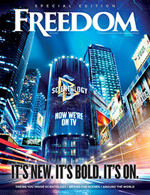 Scientology Network: It's New, It's Bold, It's On.