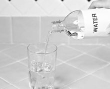 6. Fill the remainder of glass with lukewarm or cold water.