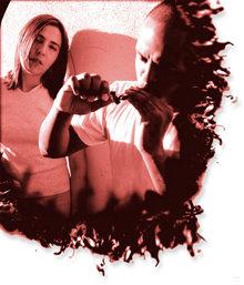 Man and woman smoking marijuana.