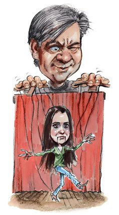 Mike Rinder's Live-in Media Puppet Christie Collbran
