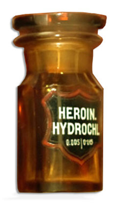 bottle of prescription heroin