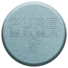 Pure M.D.M.A. pill.