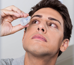 Use of over-the-counter preparations to reduce eye reddening