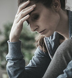 Woman in depression - recovery