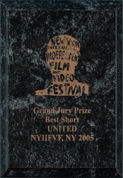 Vídeo musical UNITED, Premio del Gran Jurado del Festival Internacional de Nueva York de Películas y Vídeos Independientes