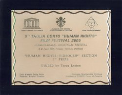 UNITED-Musikvideo, Taglia Corto Auszeichnung