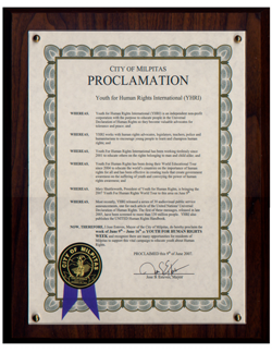 City of Milpitas Proclamation