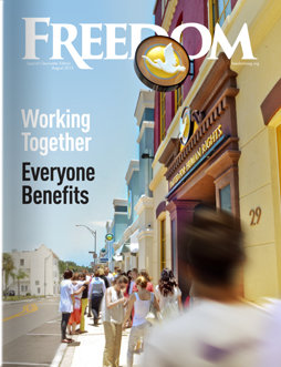 "Freedom Magazine. ""Clearwater Building"" issue cover"