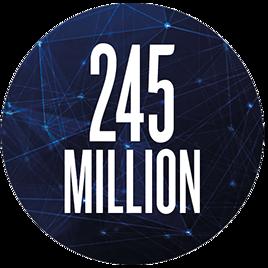 245 million