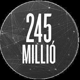 245 millió