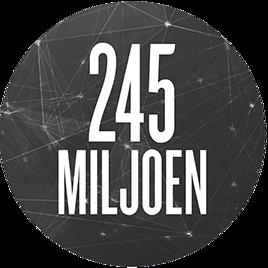 245miljoen