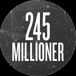 245 millioner