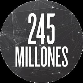 245 millones