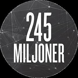 245 miljoner