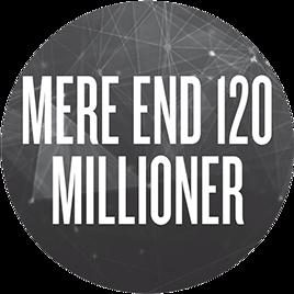 Over 120 millioner