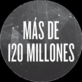 Más de 120 millones