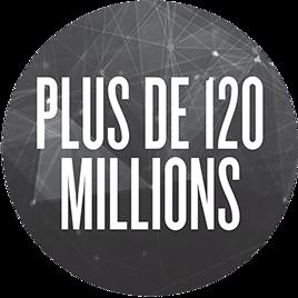 Plus de 120 millions
