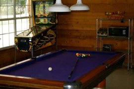Pool table in lounge
