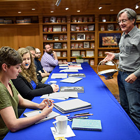World Fantasy Award-winning author Tim Powers leads one of his many workshops.