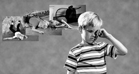 När ett barn upplever något upprörande eller traumatiskt, kan liknande händelser i dess sinne reaktiveras.