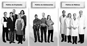 """""""Público"""" es un término profesional de la gente de relaciones públicas. No significa una muchedumbre o las masas. Significa """"un tipo de audiencia""""."""