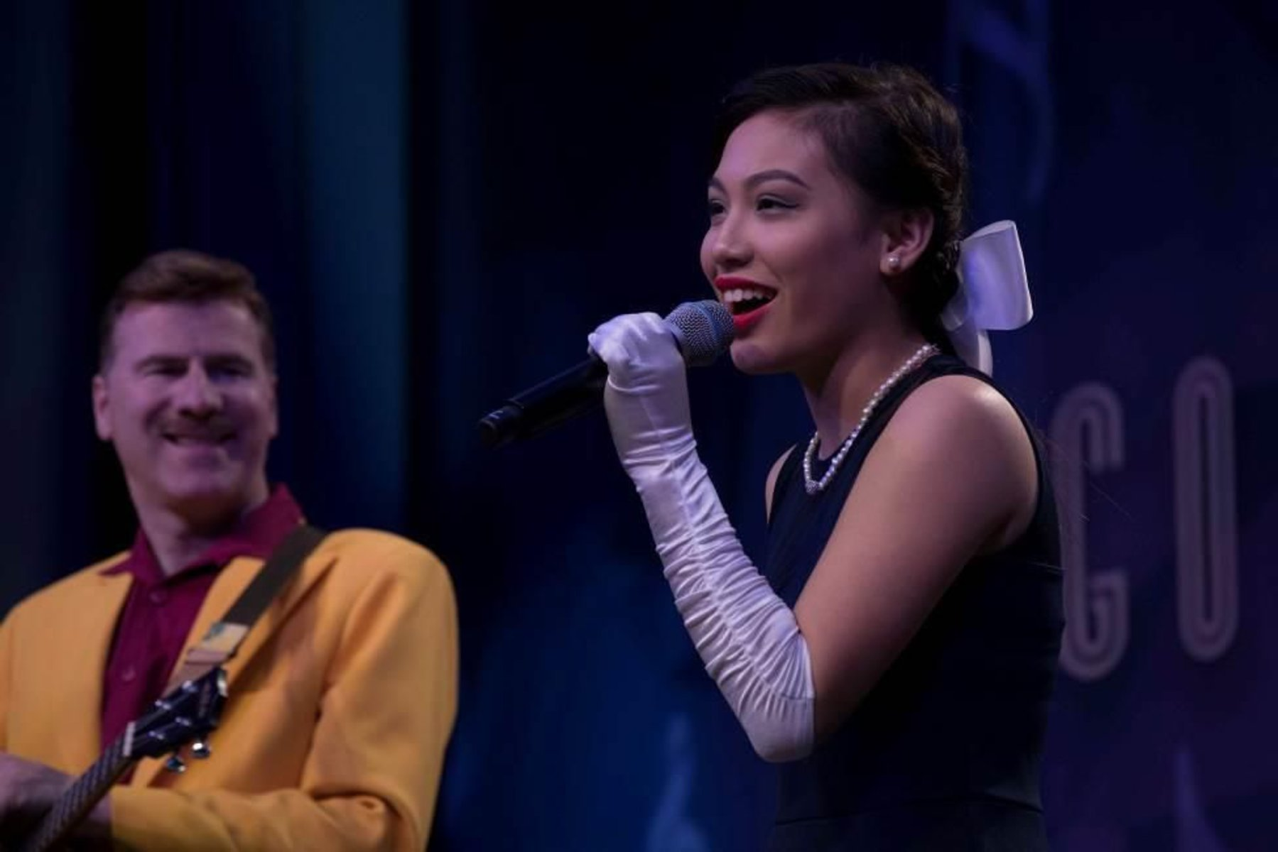 Marby Ariolla joined the Jive Aces at the Golden Heart Charity Talent Show.