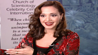 Leah Remini at the Celebrity Centre International Galain1997