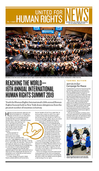 United for Human Rights – Newsletter 4. Jahrgang, Ausgabe 2