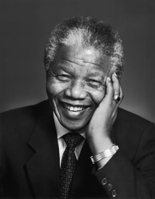 President Nelson Mandela, champion of human rights.