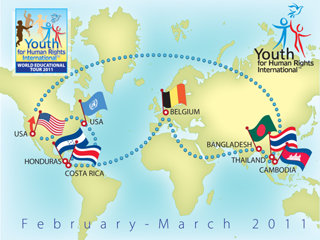 3 continents, 7 countries/regions and 25,875 miles during February and March 2011