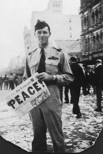 WWII newspaper with Peace! headline