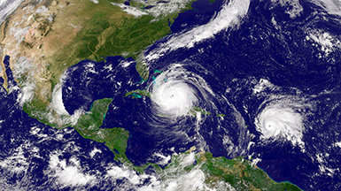 Nödhjälp i form av VM-arnas katastrofinsatser under orkanen Harvey och Irma