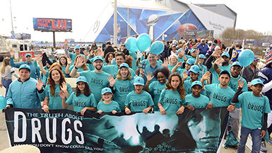 Drug-Free World Touches Down at the Super Bowl