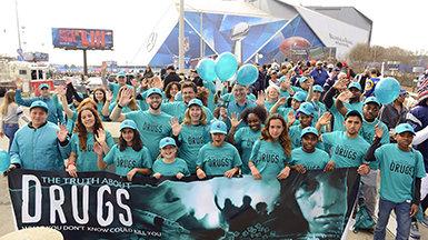 La campagne pour un monde sans drogue au Super Bowl