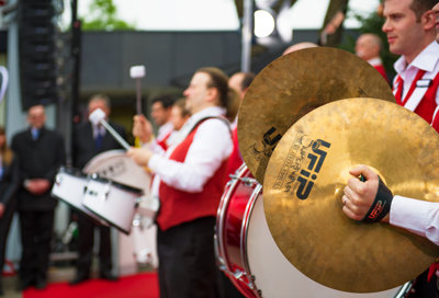 Opening ceremony of the Church of Scientology of Basel. Cymbals