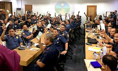 Distritos policiales reciben las buenas noticias