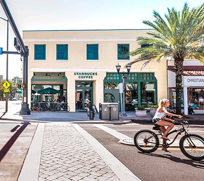 Clearwater downtown. Starbucks cafe.