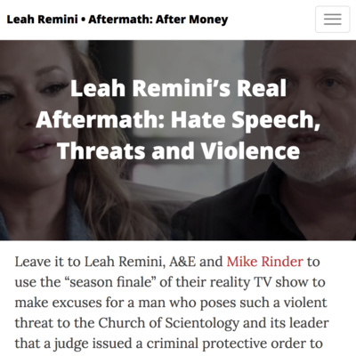 Anti-Religious Hate Crimes Should Be No Smirking Matter for A&E, Leah Remini and Mike Rinder