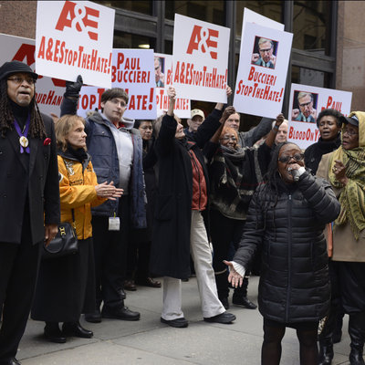 Religious Leaders Demand A&E Stop the Hate in New York Rally