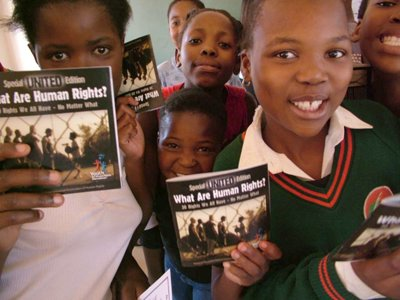 In over 100 nations, teachers implement Youth for Human Rights' curriculum, teaching children of all ages their fundamental rights.