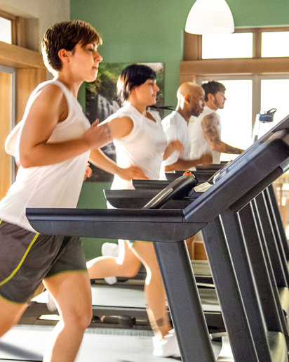 Students begin the New Life Detoxification by running
