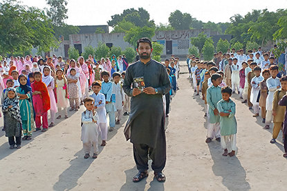 Muhammad Tayiib, a human rights activist and lawyer from Pakistan, uses his voice to fight for children's rights to education.