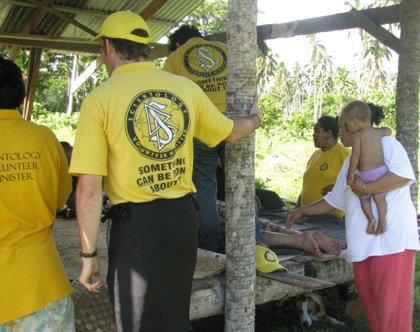 A team of Scientology Volunteer Ministers from Australia is helping Samoa recover from the tsunami that hit the island early Tuesday, September 29, 2009.