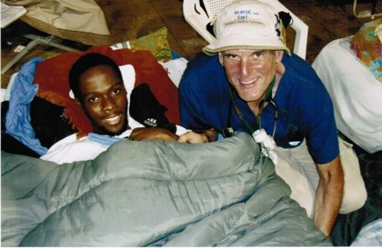 Ralph and Ayal in the Miami University Tent Hospital in Port-au-Prince