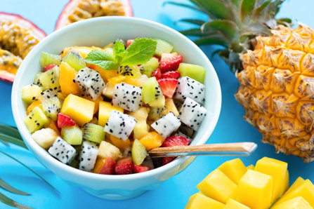 Good fruit salat in a bowl.