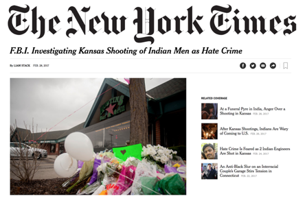 New York Times on Indian murders